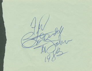 BO DIDDLEY - INSCRIBED SIGNATURE 1983