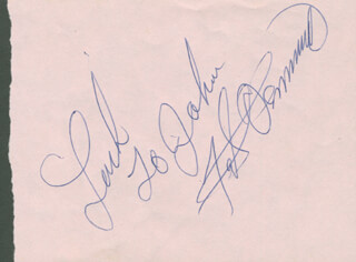 FATS DOMINO - AUTOGRAPH NOTE SIGNED
