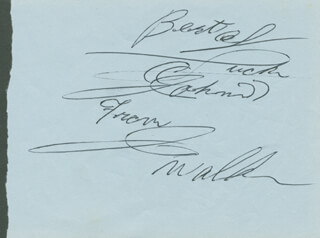 JUNIOR WALKER - AUTOGRAPH NOTE SIGNED CO-SIGNED BY: THE DRIFTERS (ELSBEARY BEARY HOBBS)