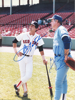 CARL YAZ YASTRZEMSKI - AUTOGRAPHED SIGNED PHOTOGRAPH CO-SIGNED BY: GAYLORD PERRY