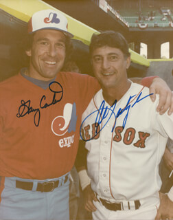 CARL YAZ YASTRZEMSKI - AUTOGRAPHED SIGNED PHOTOGRAPH CO-SIGNED BY: GARY CARTER