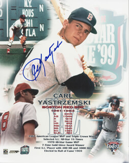 CARL YAZ YASTRZEMSKI - PRINTED PHOTOGRAPH SIGNED IN INK