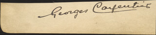 Autographs: GEORGES ORCHID MAN CARPENTIER - SIGNATURE(S) CIRCA 1931