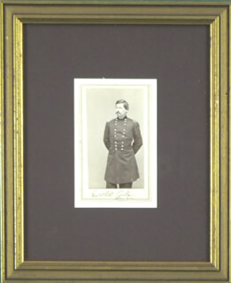 MAJOR GENERAL GEORGE B. MCCLELLAN - PHOTOGRAPH MOUNT SIGNED