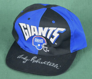 Autographs: ANDY ROBUSTELLI - HAT SIGNED