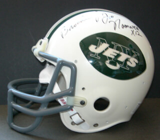 JOE NAMATH - HELMET SIGNED