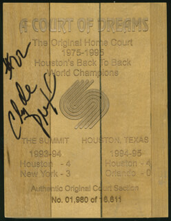 CLYDE DREXLER - EPHEMERA SIGNED