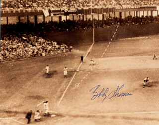 BOBBY THOMSON - AUTOGRAPHED SIGNED PHOTOGRAPH