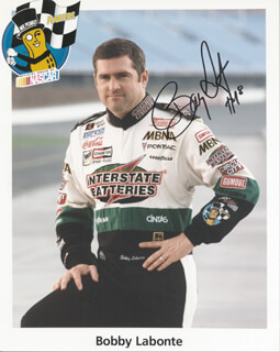 BOBBY LABONTE - AUTOGRAPHED SIGNED PHOTOGRAPH