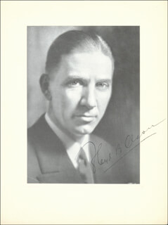 Autographs: GOVERNOR FLOYD B. OLSON - PHOTOGRAPH SIGNED 09/08/1931
