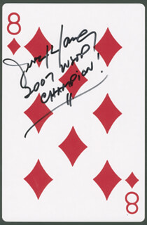 Autographs: XOA JERRY YANG - PLAYING CARD SIGNED