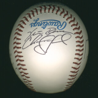 THE PITTSBURGH PIRATES - AUTOGRAPHED SIGNED BASEBALL CO-SIGNED BY: ADRIAN BROWN, SEAN LAWRENCE, CHANCE SANFORD, MIKE WILLIAMS, GARY WILSON, TIM EDGE, CHAD HERMANSEN, CARLOS CRAWFORD, NASHVILLE SOUNDS