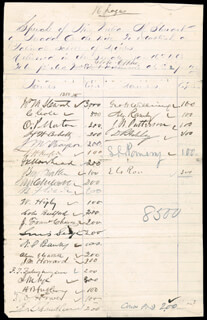 Autographs: WILLIAM M. STEWART - DOCUMENT SIGNED 01/16/1868 CO-SIGNED BY: FREDERICK T. FRELINGHUYSEN, JAMES K. MOORHEAD, SAMUEL C. POMEROY, ALEXANDER RAMSEY, HENRY B. ANTHONY, TIMOTHY O. HOWE, WILLIAM H. HOOPER, MAJOR GENERAL NATHANIEL P. BANKS, BENJAMIN F. WADE, GEORGE H. WILLIAMS, MAJOR GENERAL JOHN M. THAYER, MAJOR GENERAL BENJAMIN F. BUTLER, ZACHARIAH CHANDLER, CORNELIUS COLE, JAMES W. PATTERSON, OLIVER P. MORTON, HENRY W. CORBETT, GEORGE M. CHILCOTT, WILLIAM HIGBY, COLES BASHFORD, JOSE F. CHAVES, LEWIS SELYE, ALEXANDER G. CATTELL, JACOB M. HOWARD, GOVERNOR JAMES W. NYE, DELOS R. ASHLEY, EDMUND G. ROSS