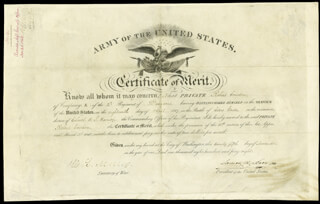 PRESIDENT JAMES K. POLK - DOCUMENT SIGNED 11/25/1848 CO-SIGNED BY: WILLIAM L. MARCY