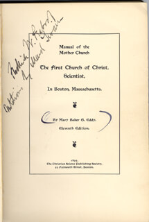 SAMUEL L. MARK TWAIN CLEMENS - BOOK SIGNED CO-SIGNED BY: FREDERICK W. PEABODY
