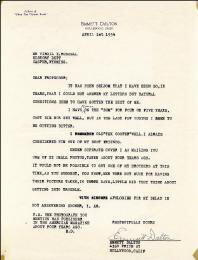 EMMETT DALTON - TYPED LETTER SIGNED 04/01/1934