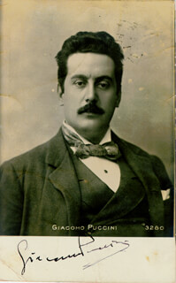 GIACOMO PUCCINI - PICTURE POST CARD SIGNED