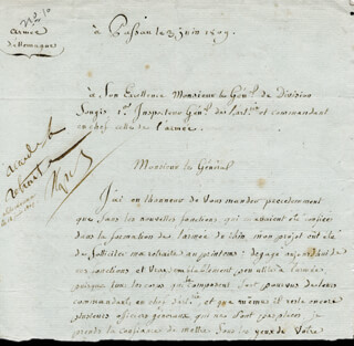 Autographs: EMPEROR NAPOLEON BONAPARTE - AUTOGRAPH ENDORSEMENT SIGNED 06/12/1809