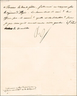 Autographs: EMPEROR NAPOLEON BONAPARTE - MANUSCRIPT DOCUMENT SIGNED 04/21/1811