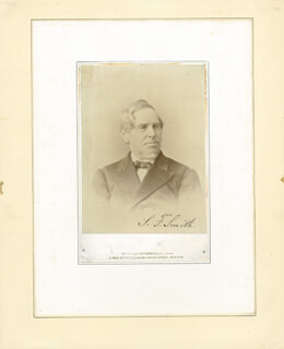 SAMUEL FRANCIS SMITH - AUTOGRAPHED SIGNED PHOTOGRAPH
