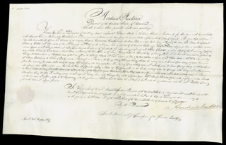 PRESIDENT ANDREW JACKSON - MANUSCRIPT DOCUMENT SIGNED 09/28/1830