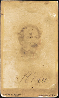 Autographs: GENERAL ROBERT E. LEE - PHOTOGRAPH SIGNED CO-SIGNED BY: MARY CUSTIS LEE