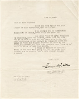 EMMETT DALTON - TYPED LETTER SIGNED 06/19/1931