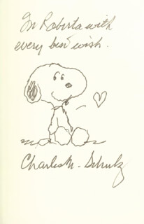 CHARLES M. SCHULZ - INSCRIBED BOOK SIGNED