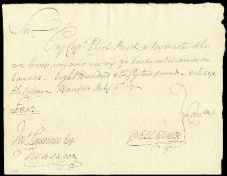 Autographs: CHIEF JUSTICE OLIVER ELLSWORTH - AUTOGRAPH DOCUMENT SIGNED 07/05/1776 CO-SIGNED BY: ELIJAH BEACH