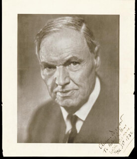 CLARENCE DARROW - INSCRIBED BOOK PHOTOGRAPH SIGNED 12/25/1932