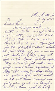 PATSY CLINE - AUTOGRAPH LETTER SIGNED 07/31/1957