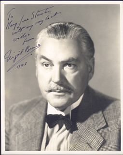 NIGEL BRUCE - AUTOGRAPHED INSCRIBED PHOTOGRAPH 1943
