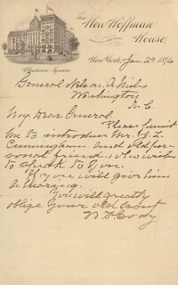 WILLIAM F. BUFFALO BILL CODY - AUTOGRAPH LETTER SIGNED 01/29/1896