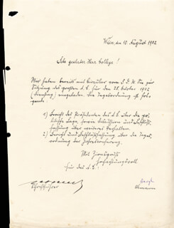 Autographs: THEODOR HERZL - PRINTED DOCUMENT SIGNED IN INK 08/10/1902