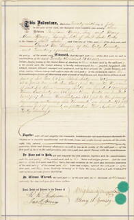 BRIGHAM YOUNG - DEED SIGNED 07/29/1873 CO-SIGNED BY: MARY ANN YOUNG
