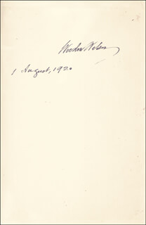 PRESIDENT WOODROW WILSON - BOOK SIGNED 08/01/1920