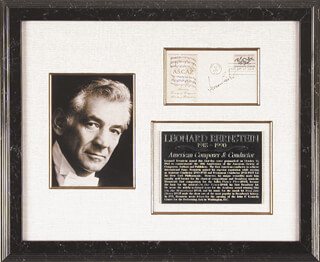 LEONARD BERNSTEIN - FIRST DAY COVER SIGNED