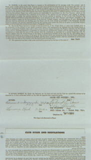 RAY NITSCHKE - CONTRACT SIGNED 07/30/1962 CO-SIGNED BY: RICHARD VORIS