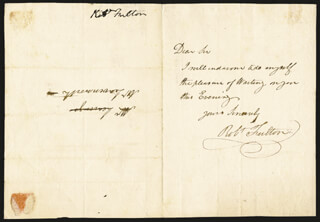 ROBERT FULTON - AUTOGRAPH LETTER SIGNED