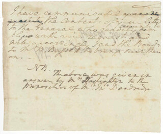 PRESIDENT GEORGE WASHINGTON - AUTOGRAPH NOTE SIGNED IN TEXT