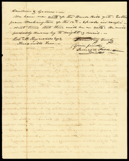 PRESIDENT JAMES K. POLK - AUTOGRAPH LETTER SIGNED 08/22/1841