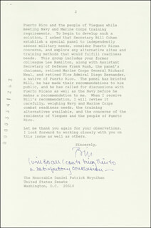 PRESIDENT WILLIAM J. BILL CLINTON - TYPED LETTER SIGNED 10/20/1999