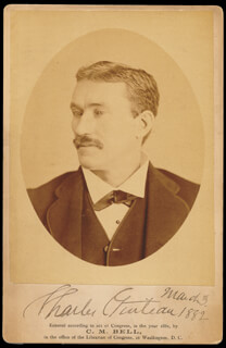 CHARLES J. GUITEAU - PHOTOGRAPH MOUNT SIGNED 03/03/1882