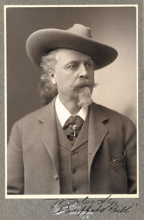 WILLIAM F. BUFFALO BILL CODY - AUTOGRAPHED SIGNED PHOTOGRAPH