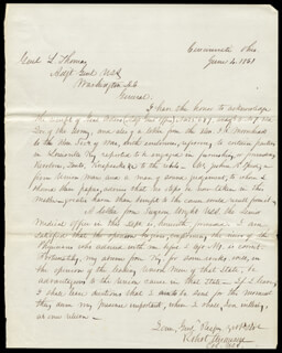 MAJOR GENERAL ROBERT ANDERSON - AUTOGRAPH LETTER SIGNED 06/04/1861