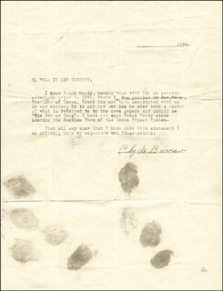 Autographs: CLYDE BARROW - TYPED LETTER SIGNED 1934