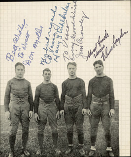 THE FOUR HORSEMEN - PHOTOGRAPH MOUNT SIGNED CO-SIGNED BY: ELMER LAYDEN, JIM CROWLEY, HARRY A. STUHLDREHER, DON MILLER - HFSID 286072