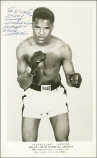 THOMAS HURRICANE JACKSON - AUTOGRAPHED INSCRIBED PHOTOGRAPH