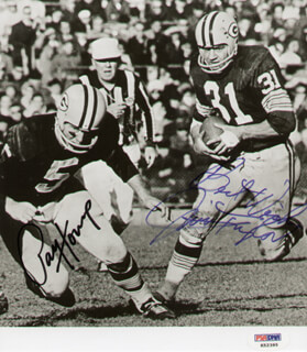 GREEN BAY PACKERS - AUTOGRAPHED SIGNED PHOTOGRAPH CO-SIGNED BY: JIM TAYLOR, PAUL V. HORNUNG
