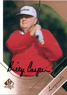 Autographs: BILLY CASPER - TRADING/SPORTS CARD SIGNED